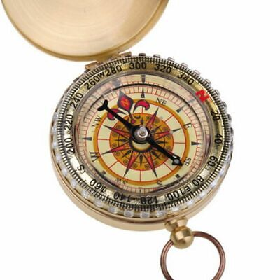 Brass Dalvey Style Compass With Lid Old Vintage Nautical Pocket Compass Replica