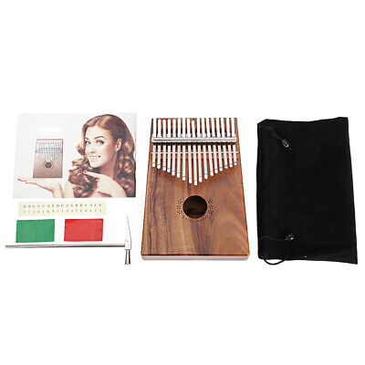 17 Key Kalimba Single Board Koa Material Thumb Piano Mbira Keyboard Instrument