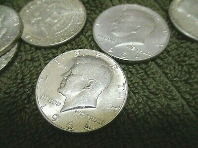 Lot Of Four (4!) 1964 Or 1964(D)  90% Silver John F. Kennedy Half Dollars! Great