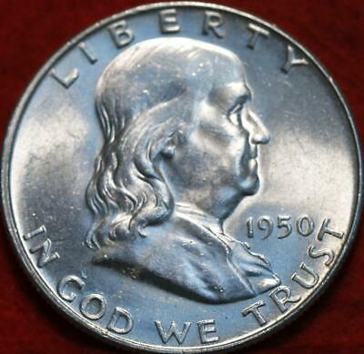Uncirculated 1950  Philadelphia Mint Silver Franklin Half