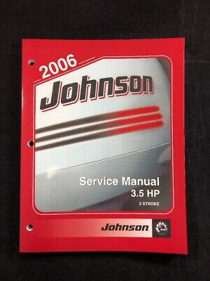 2006 Johnson Outboard 2 Stroke 3.5 HP Factory OEM Service Manual Part No.5006562