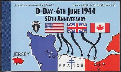 Jersey MH 6 Markenheftchen, gest., D-Day History 1944, used