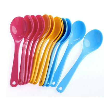 12Pc/Set Baby Feeding Spoon Safe Plastic Toddler Training Eating Spoons Food
