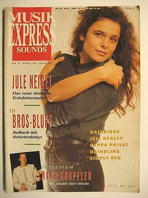 Musik Express Sounds 1989 # 3 - Jule Neigel Mark Knopfler Frank Zappa Haindling
