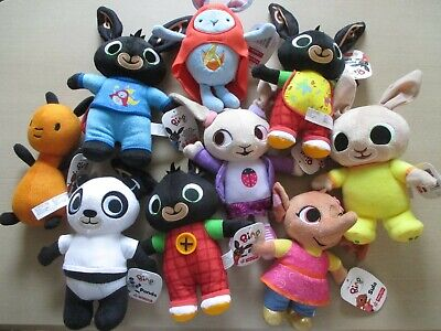 3x Bing, Charlie Bunny Coco Hoppity Voosh Flop Pando Sula Soft Toys Set of 9 NEW