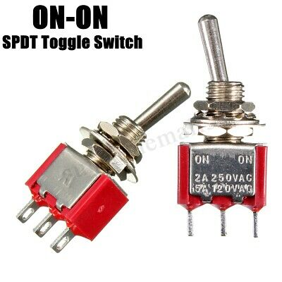 2pcs 3Pin AC 6 a/125 v 3 a/250V ON/ON SPDT Mini interrupteur à bascule, tableau