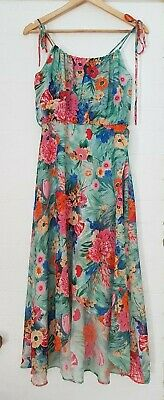 Genuine Original VINTAGE ARC Women Retro Floral Flowers Layered Hippy Cute Dress