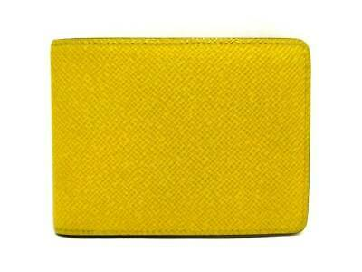 31edf515953 Auth LOUIS VUITTON Portefeuille Multiple M42089 Jaune Taiga SP1126 Bill  Holder
