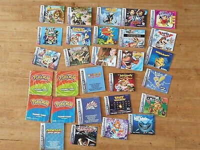 Lot de notice jeux pour game boy advance