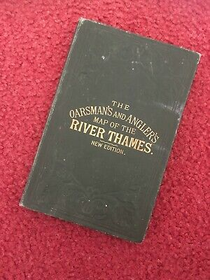 James Reynolds & Sons Oarsman's & Angler's Map of the River Thames - Dated 1885