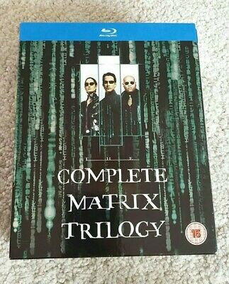 The Complete Matrix Trilogy (Blu-ray, 2008, 3-Disc Box Set) Keanu Reeves