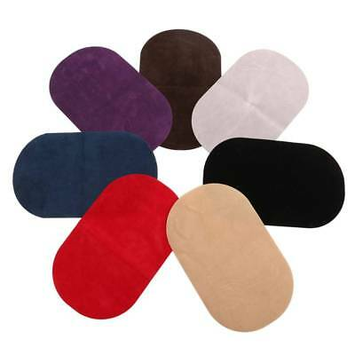 Suede Leather Iron-on 2Pcs Oval Elbow Knee Patches DIY Repair Sewing Applique