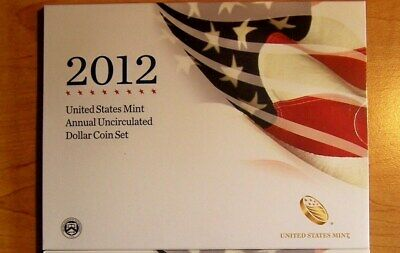 2012  United States Mint Annual Uncirculated Dollar Cion Set Silver