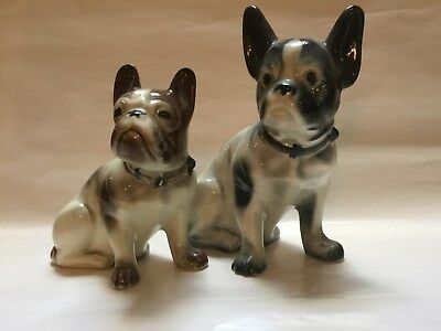 French Bulldog Figurines (2) - Vintage - Adorable