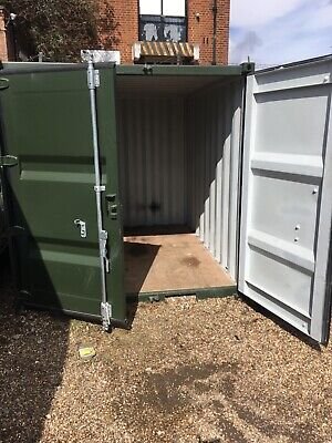shipping container 10ft green lockable green in colour vented used condition