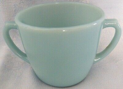 Vintage Anchor Hocking Fire King Turquoise Blue Open Sugar Bowl