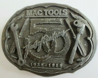 Vintage MAC TOOLS 50th Anniversary BELT BUCKLE 1988 Made in USA
