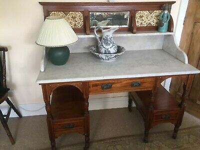 Decorative Marble topped wash stand