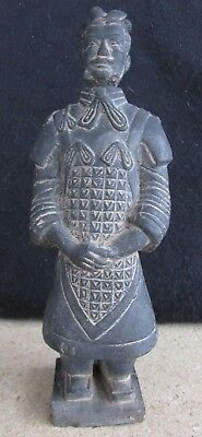 """Rare Vintage Chinese Clay Soldier - Terracotta Warrior Figure Bottle 7.5"""" Tall"""