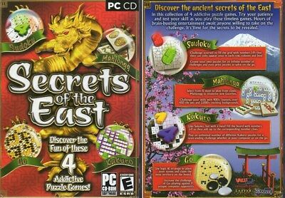 Secrets of the East - 4 Addictive Puzzle Games (PC-CD, 2006) - NEW in Small BOX