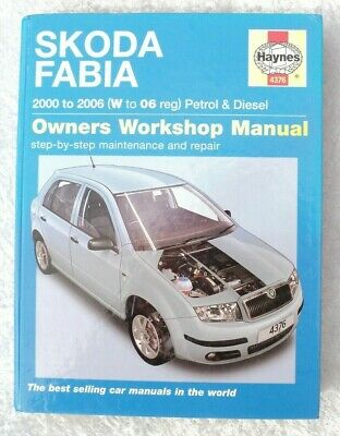 00-06 Haynes Workshop Manual for Skoda Fabia Petrol /& Diesel