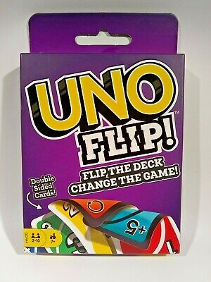 UNO FLIP Card Game by Mattel Double Sided NEW!! FREE SHIPPING!