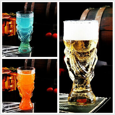 New Creative World Cup Design Crystal Glass Cup Beer Water Mug Bar Party MED/LAG
