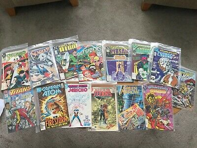 Job Lot Vintage DC Comics X 14 Titans Green Lantern 80s
