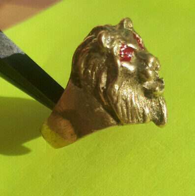 rare ancient bronze moneky ring antique cooper solid legionary artifact amazing