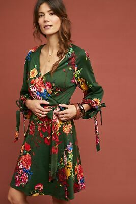f1f6924ff82c NWT Anthropologie Dahlia Wrap Dress by Eva Franco PS Small Petite $178