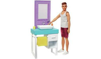 Barbie Shaving Fun Ken Doll Fun With Themed Furniture Pieces  NEW_UK