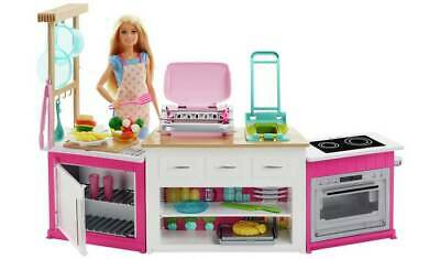 Barbie Ultimate Kitchen Playset with Doll & Realistic Working Features  NEW_UK