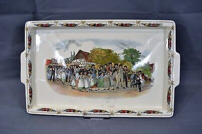 Antique Utzschneider & Co Sarreguemines German Porcelain Serving Dish Tray Loux