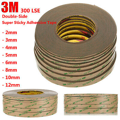 3M 300LSE Heavy Duty Waterproof Double-Sided Adhesive Strong Tape Sticky 2~6mm