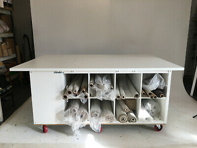 Large Fabric cutting, measuring and storage table made from Ikea Kallax etc