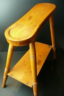Antique Shoe Shine / Foot Rest - Vintage Hipster Dapper Dan Boot Polisher Thingy