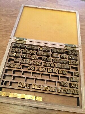 Vintage Set Of Hot Stamping Personalized Intials Brass Letters Nos Louis Vuitton
