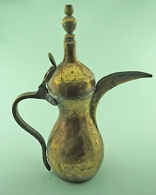 Large Dallah Coffee Pot, Middle Eastern, Islamic. Signed Gero Dating Around 1940