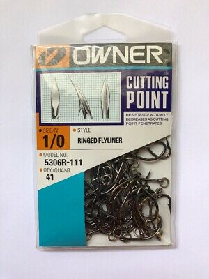 OWNER Ringed Gorilla 1//0 Saltwater Grade Hooks XXX Strong 5105R-111 Qty 6//pk