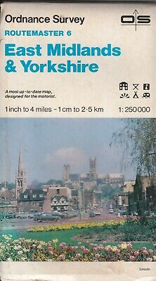 Ordnance Survey Map Routemaster 6: East Midlands and Yorkshire