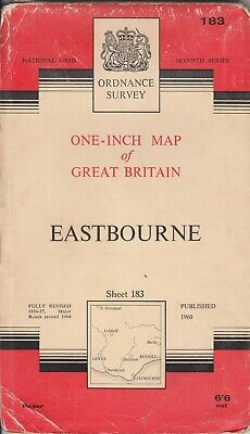 Ordnance Survey One Inch Seventh Series Map No 183 Eastbourne