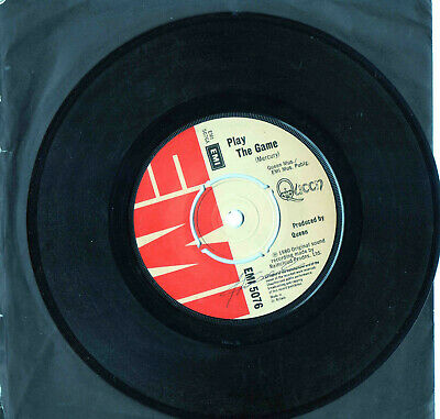 """QUEEN / MERCURY ► PLAY THE GAME - 45 Tours / 7"""" Vinyle - UK BROWN LABEL - 1980"""