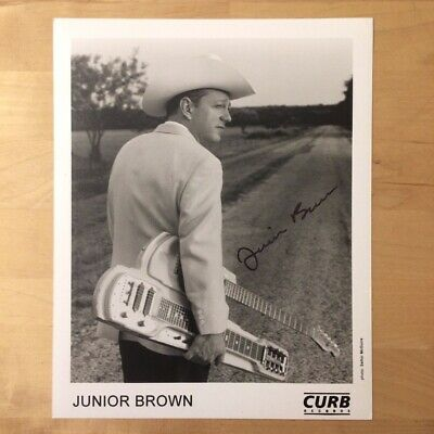 "Junior Brown - Autographed / Signed 8"" X 10"" Publicity Photo - Curb Records"