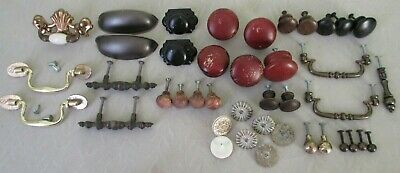Vintage Mixed Lot Cabinets Furniture Drawer Chest Pulls Handles Pins Parts