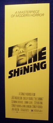 The Shining 14X36 Original Rolled Nm Movie Poster 1980 Stanley Kubrick Insert