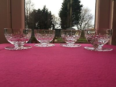 Waterford Crystal Lismore - Footed Dessert / Sundae / Grapefruit Bowls x 4 - Exc