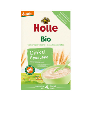 6 x HOLLE ORGANIC SPELT PORRIDGE CEREAL 250 g UP TO 4. MONTH - FREE SHIPPING