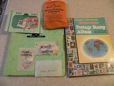 Harris Explorer / Stamps Of S. America-With Packs Of Extra Stamps