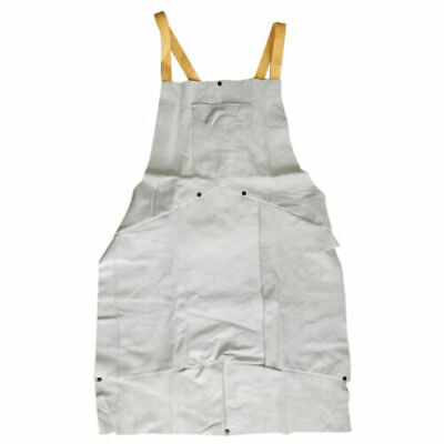 FJ- White Leather Flame Resistant Thick Welding safety gear Apron Cocktail with