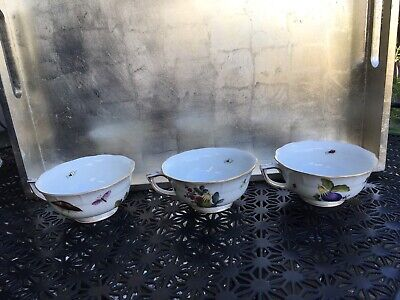 Herend Hungary 6 Cups ~ Hand Painted Market Garden Pattern No Saucers